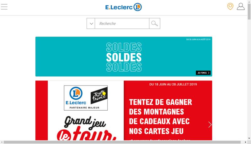 Capture d'écran du site de Centre Distributeur E Leclerc -Opt