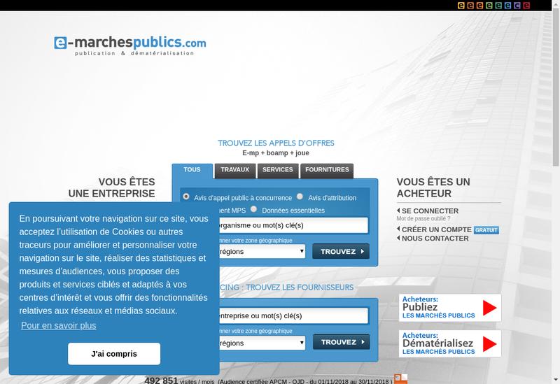 Capture d'écran du site de Dematis