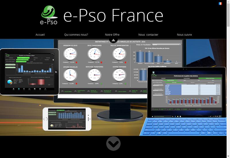 Capture d'écran du site de E Pso France
