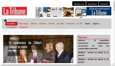 Site internet de La Tribune