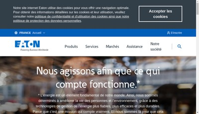 Site internet de Eaton Industries (France) SAS