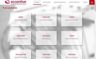 Site internet de Eccentive Toulouse
