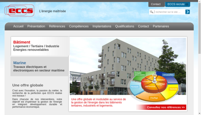 Capture d'écran du site de ECCS