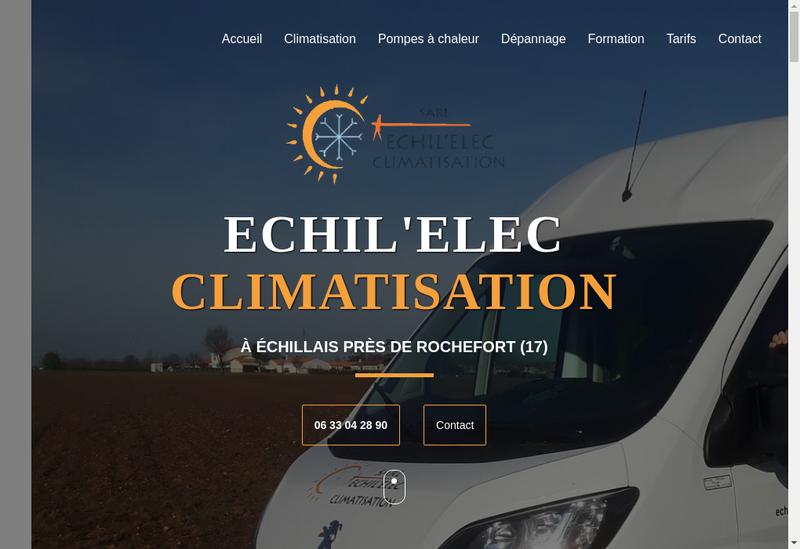 Capture d'écran du site de Echil Elec Climatisation