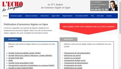 Site internet de L'Echo du Languedoc