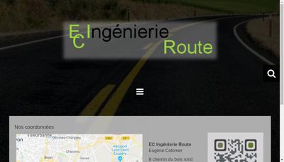 Capture d'écran du site de Eci Group