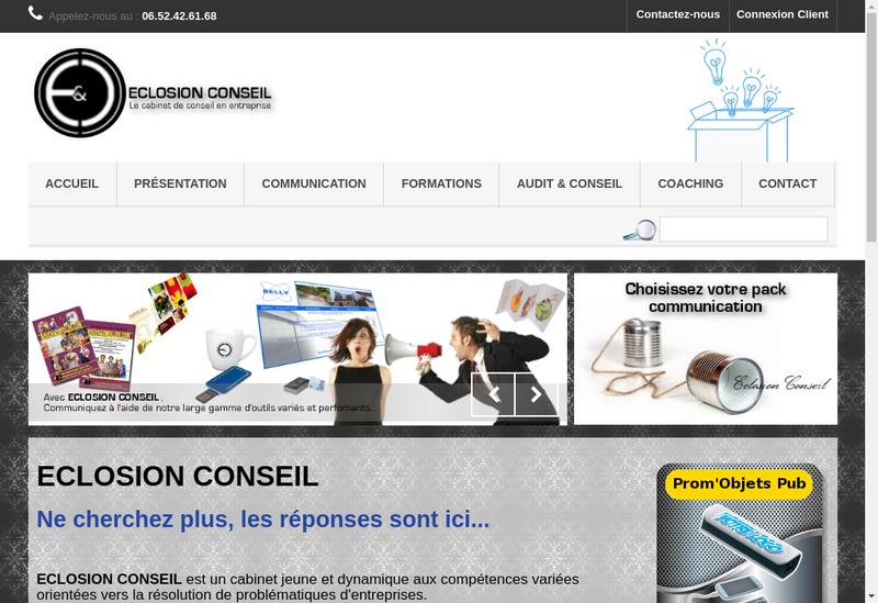Capture d'écran du site de Eclosion Conseil
