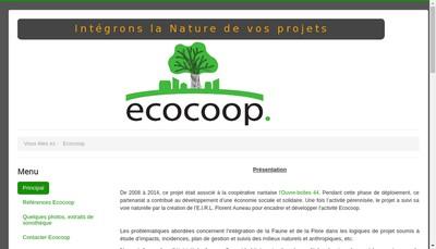 Site internet de Ecocoop