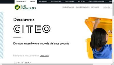 Site internet de (Ecopar) Compagnie pour la Participation Eco-Emballages