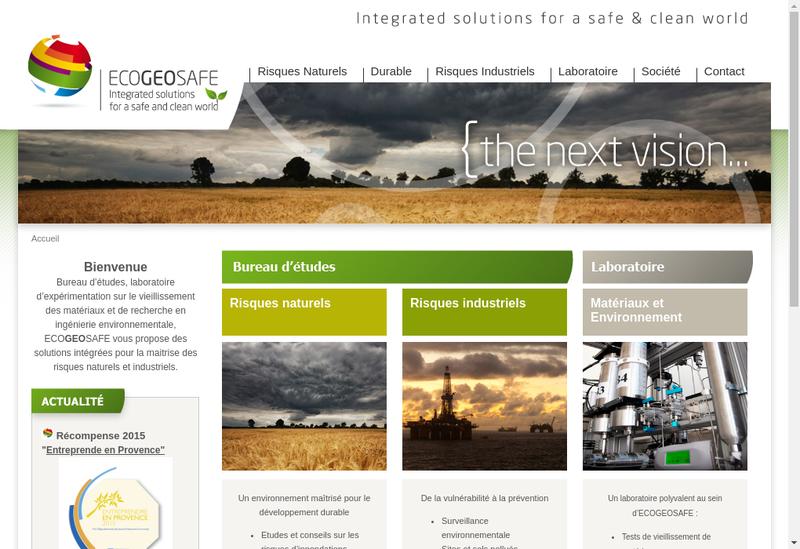 Capture d'écran du site de Ecogeosafe