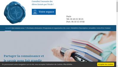 Capture d'écran du site de Sex Assist