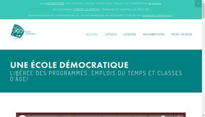 Site internet de Ecole Dynamique
