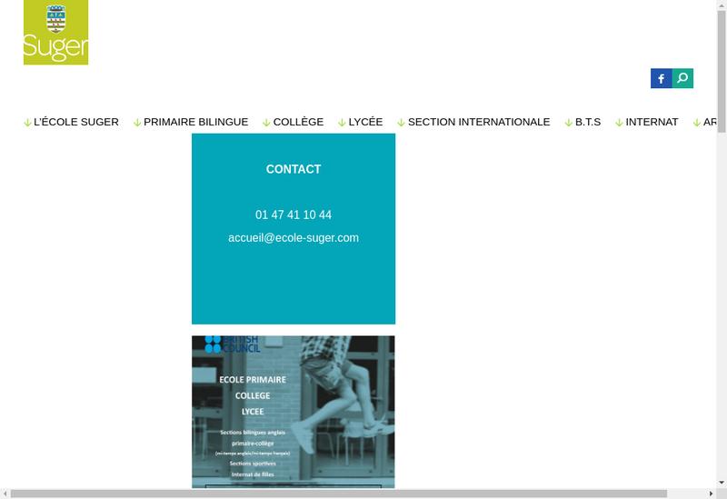 Capture d'écran du site de Lycee Prive Suger