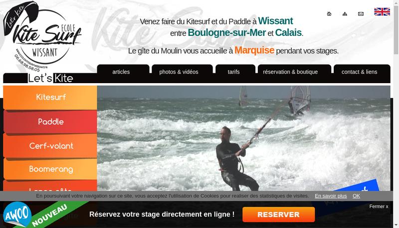 Capture d'écran du site de Bedandkite