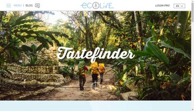 Capture d'écran du site de Ecolive