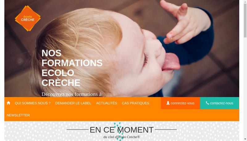 Capture d'écran du site de Ecolo Creche