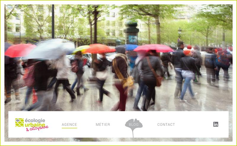 Capture d'écran du site de Ecologie Urbaine SARL