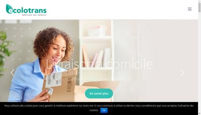 Capture d'écran du site de Ecolotrans