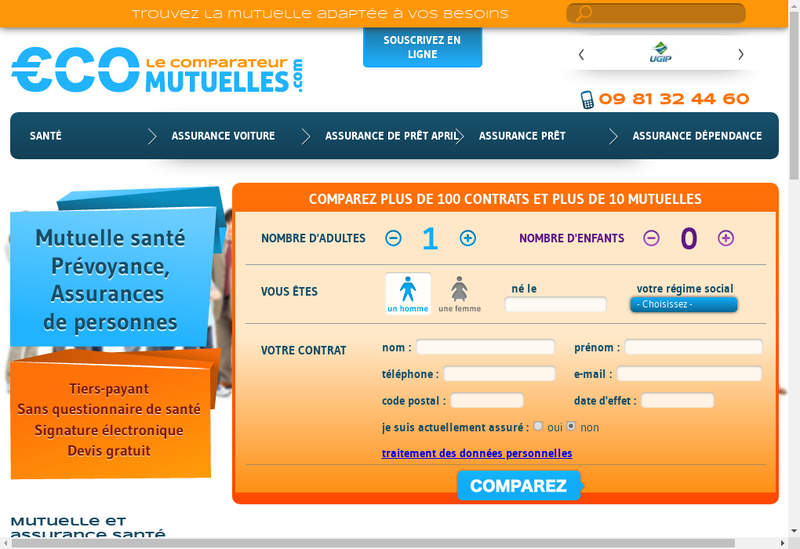 Capture d'écran du site de Cabinet Ecomutuelles