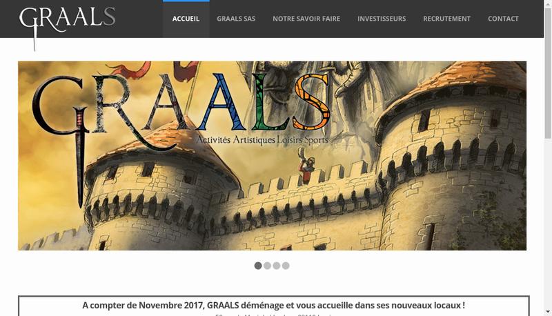 Capture d'écran du site de Graals