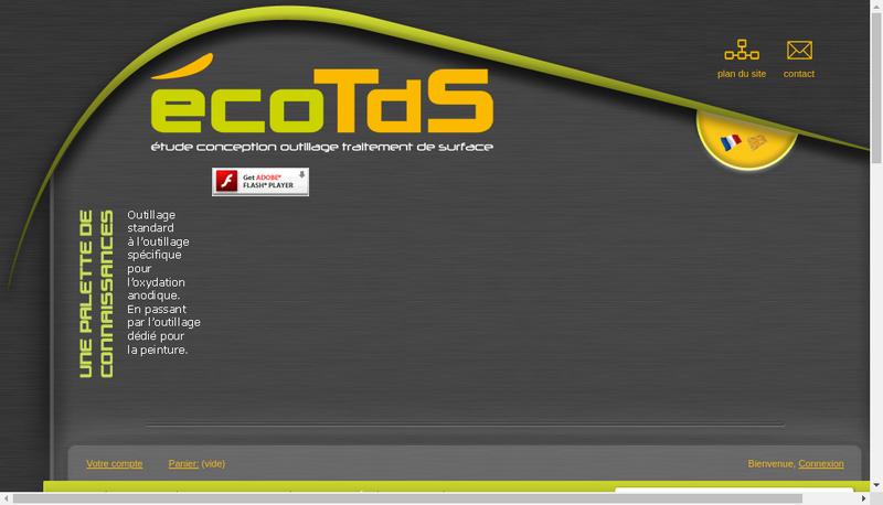 Capture d'écran du site de Ecotds