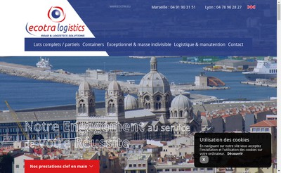 Site internet de Ecotra Logistics