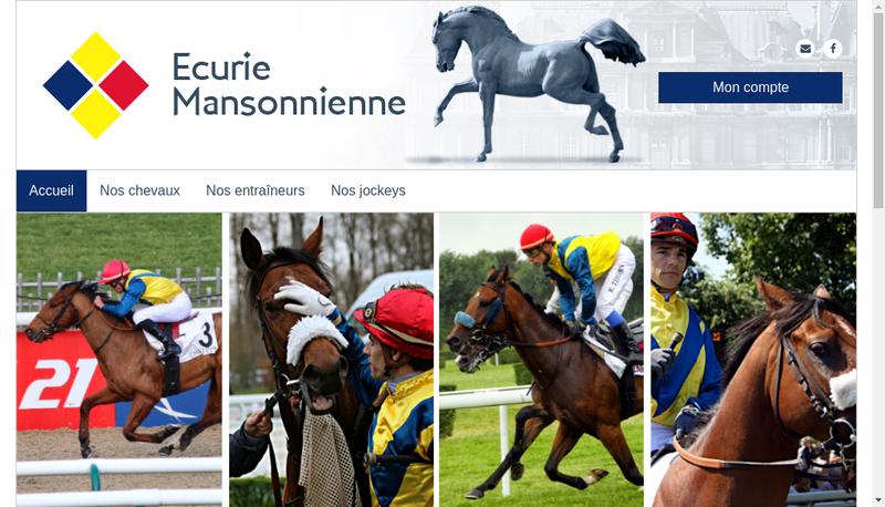 Capture d'écran du site de Ecurie Mansonnienne