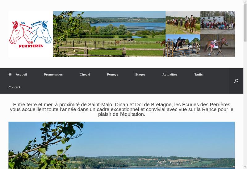 Capture d'écran du site de Chevaux des Perrieres