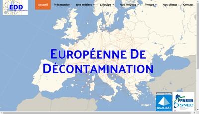 Site internet de Europeenne de Decontamination et de Fumisterie
