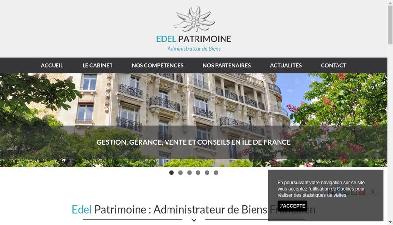 Capture d'écran du site de Edel Patrimoine