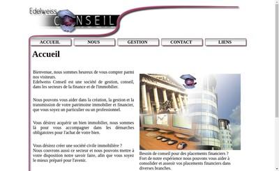 Site internet de Edelweiss Conseil