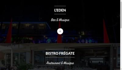 Site internet de Bistro Fregate Eden