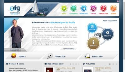 Site internet de Electronique du Golfe