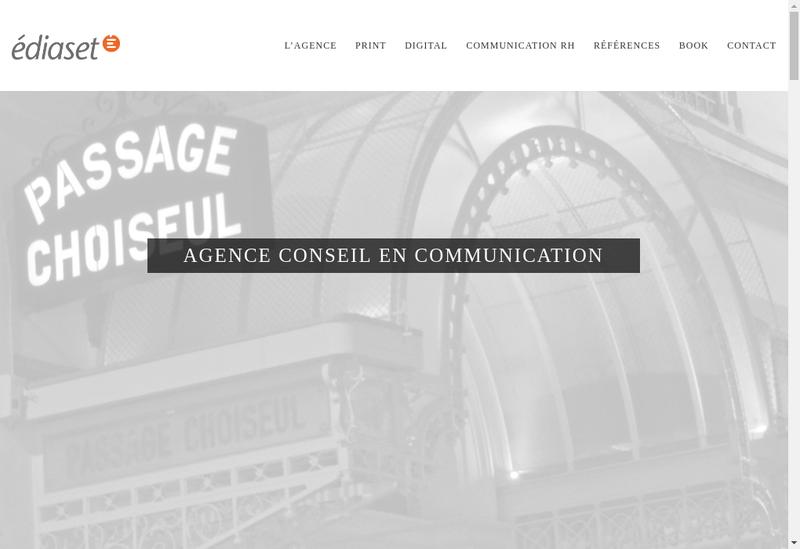 Capture d'écran du site de Ediaset