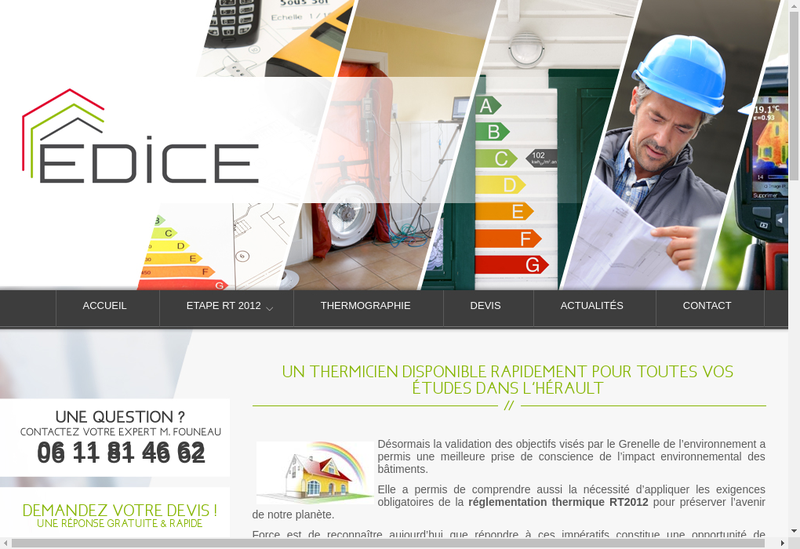 Capture d'écran du site de Edice