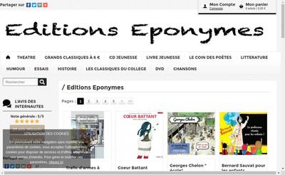 Site internet de Editions Eponymes