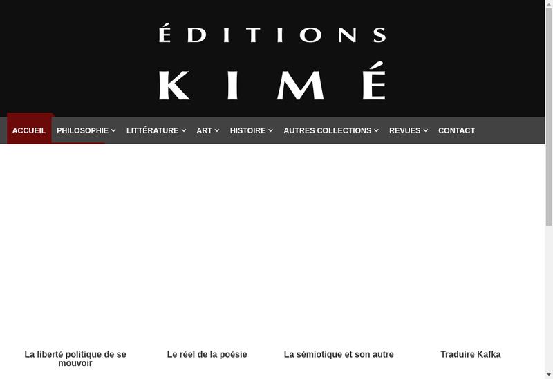 Capture d'écran du site de Editions Kime SARL