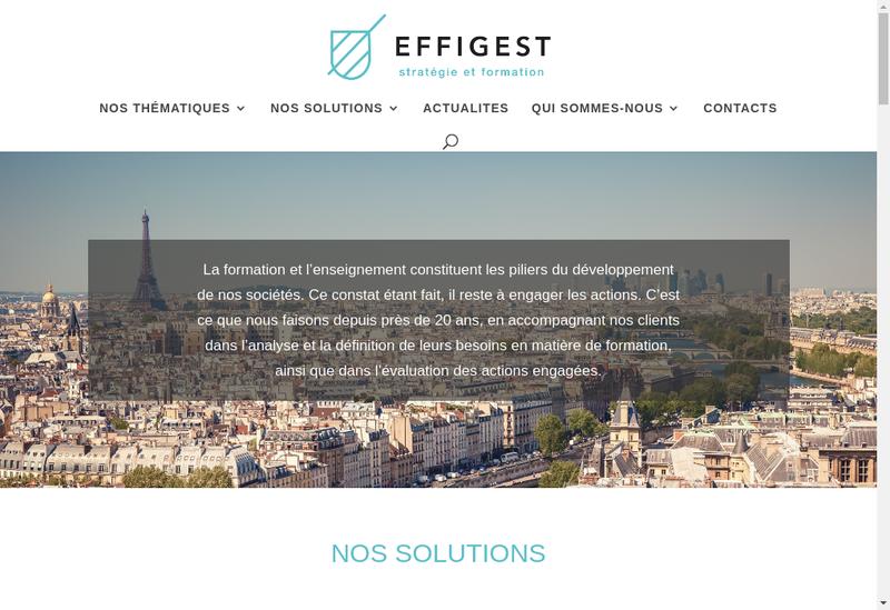 Capture d'écran du site de Effigest Formation