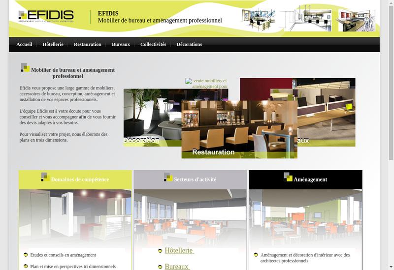 Capture d'écran du site de Efidis