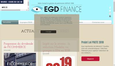 Capture d'écran du site de EGD Finance