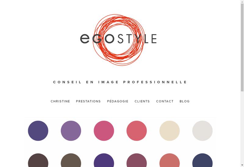 Capture d'écran du site de Egostyle