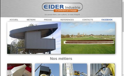 Site internet de Eider Industrie