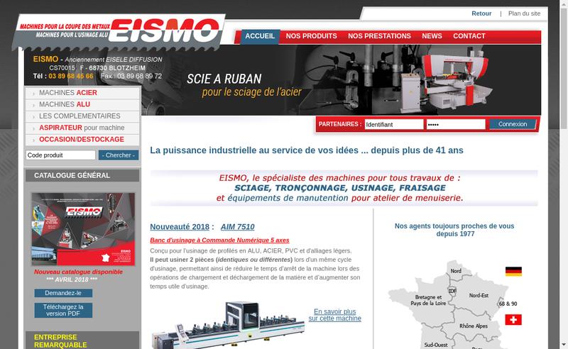 Capture d'écran du site de Eismo