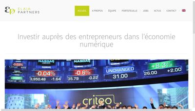Capture d'écran du site de Elaia Partners