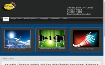 Site internet de Elect'Concept