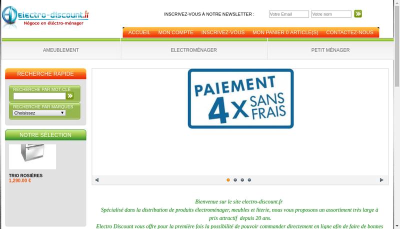 Capture d'écran du site de À la Centrale des Affaires