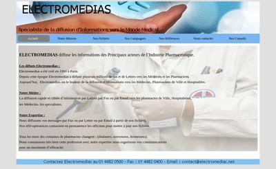 Site internet de Electromedias
