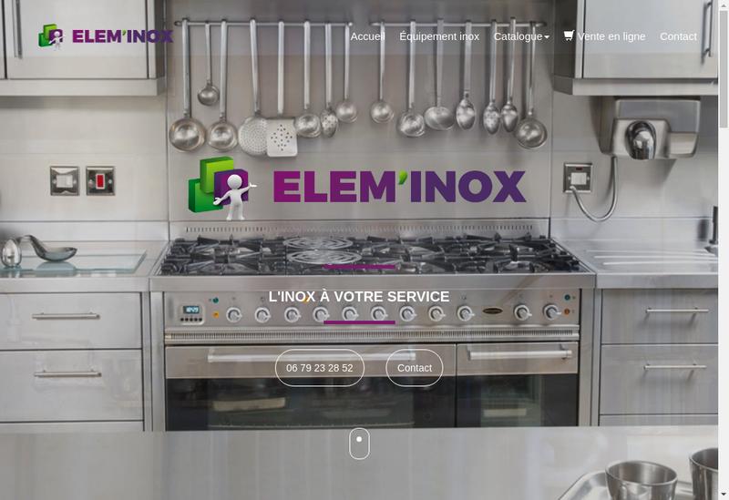 Capture d'écran du site de Elem'Inox