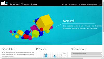 Capture d'écran du site de ELI