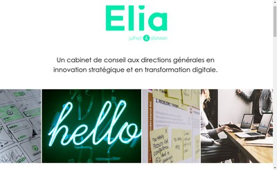 Site internet de Elia Consulting